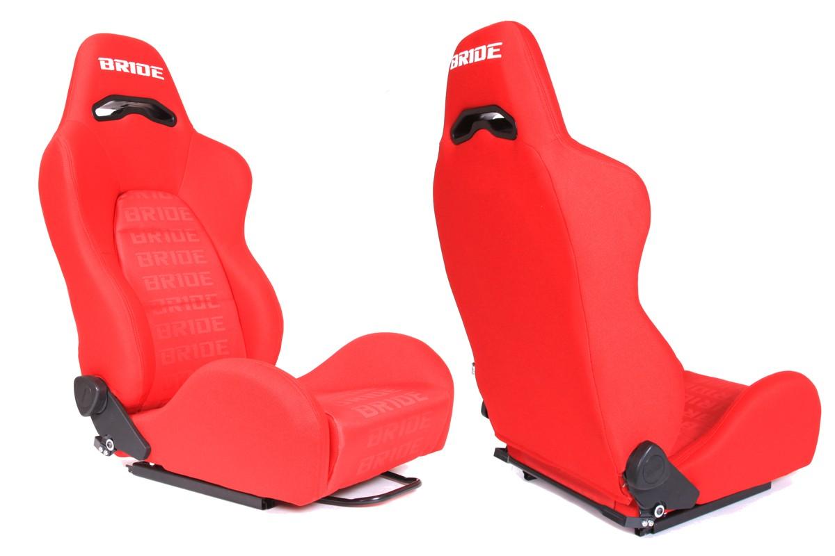 Fotel sportowy K700 Welur Bride Red - GRUBYGARAGE - Sklep Tuningowy